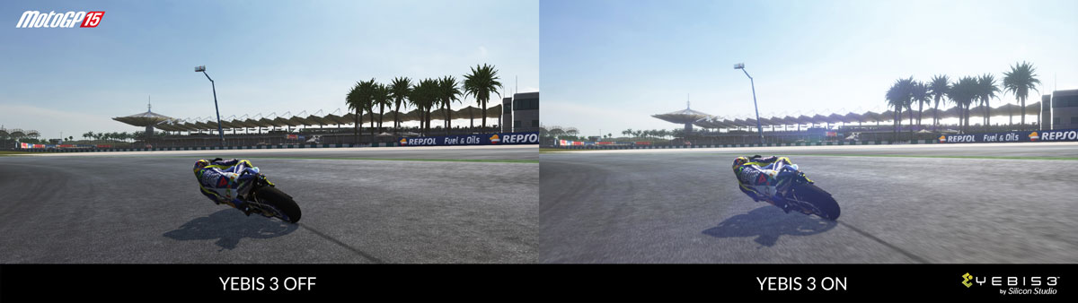 """MotoGP™15"" from Italian developer, Milestone features post optical effects middleware YEBIS"